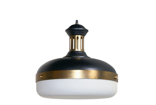 Magnolia Home Glass & Metal Pendant, Black By Joanna Gaines