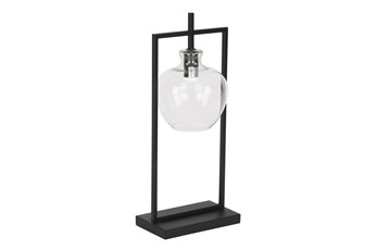Magnolia Home Table Lamp W/Glass Shade-Black By Joanna Gaines