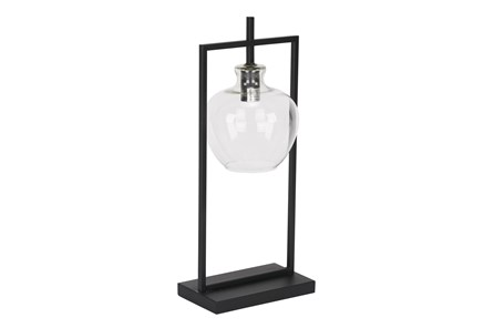 Magnolia Home Table Lamp W/Glass Shade-Black By Joanna Gaines - Main