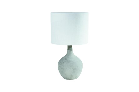 Magnolia Home Cement Table Lamp -  White Shade By Joanna Gaines - Main