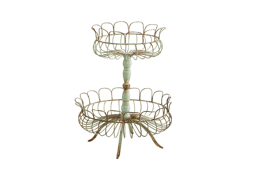 Magnolia Home Aged Wire Laced 2-Tier Urn By Joanna Gaines
