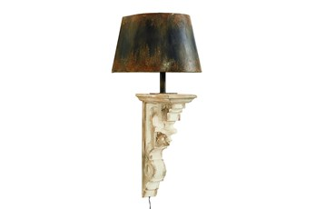 Magnolia Home Corbel Sconce,Black Metal Shad By Joanna Gaines