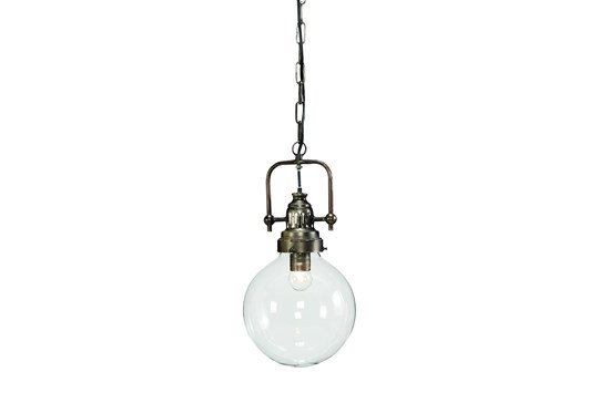 Magnolia Home Clear Glass Globe + Handle Pendant By Joanna Gaines