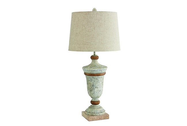 Magnolia Home Urn Table Lamp W/Linen Shade By Joanna Gaines - 360