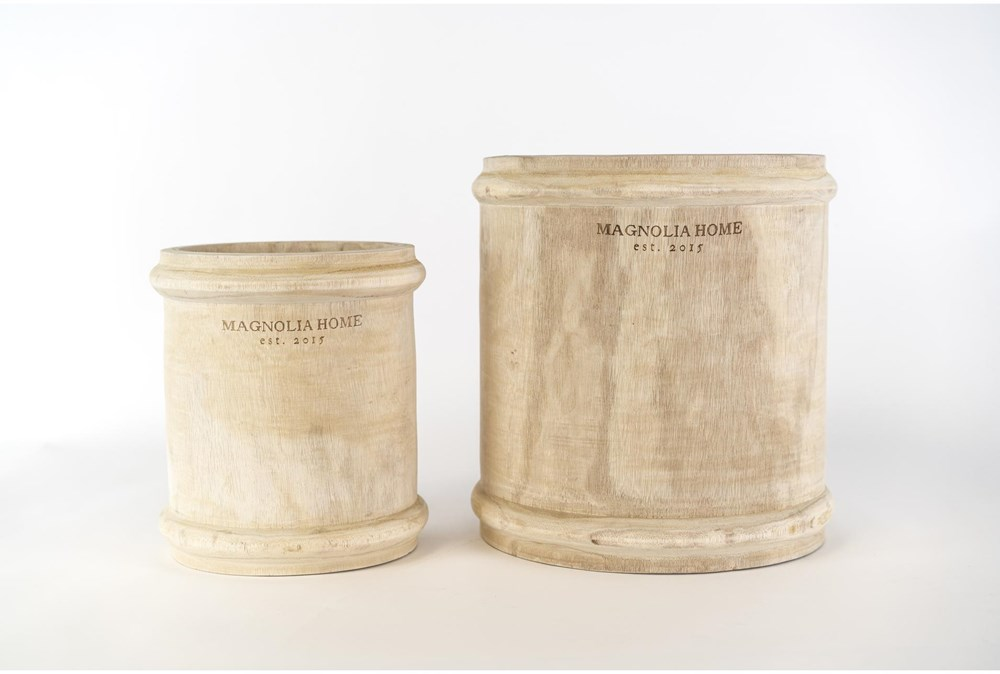 Magnolia Home Paulownia Wood Pot Holder With Ri By Joanna Gaines