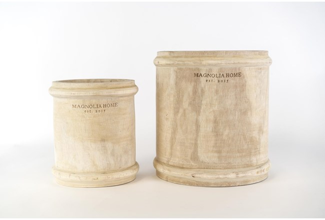 Magnolia Home Paulownia Wood Pot Holder With Ri By Joanna Gaines - 360