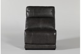 Titus Grey Leather Armless Chair