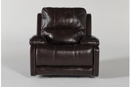 Teodoro Leather Recliner With Power Headrest