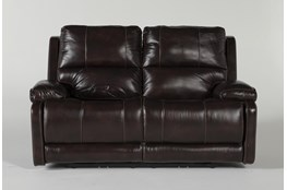 """Teodoro Leather 67"""" Reclining Loveseat With Power Headrest"""