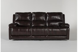 Teodoro Leather Reclining Sofa With Power Headrest