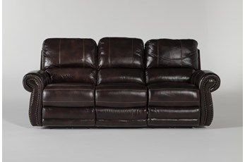 Howell Power Reclining Sofa With Power Headrest