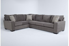 Oakley Mocha 2 Piece Sectional With Right Arm Facing Sofa