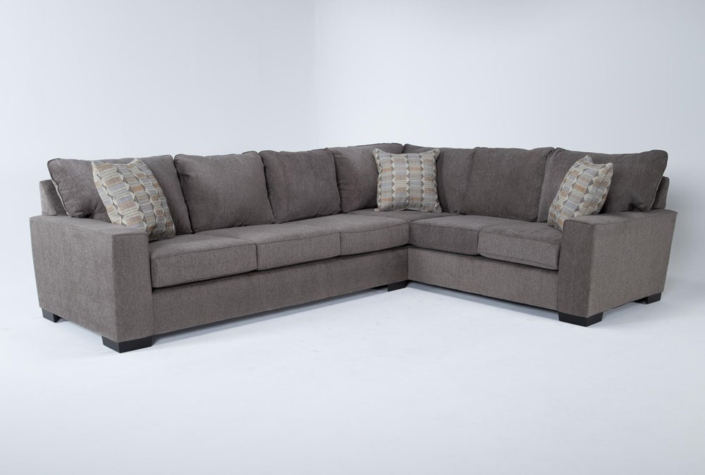 Oakley Mocha 2 Piece Sectional With Left Arm Facing Sofa