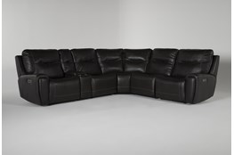 Kit-Ciro Grey 6 Piece Power Reclining Sectional With Power Headrest