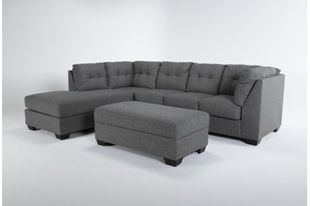 Arrowmask 2 Piece Sectional with Left Arm Facing Chaise and Storage Ottoman - Main