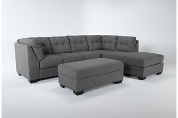 Arrowmask 2 Piece Sectional W/Sleeper & Right Arm Facing Chaise and Storage Ottoman