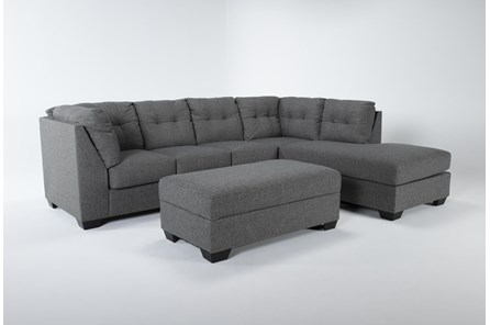 Arrowmask 2 Piece Sectional With Sleeper & Right Arm Facing Chaise and Storage Ottoman - Main