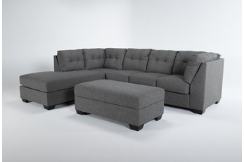 Arrowmask 2 Piece Sectional W/Sleeper & Left Arm Facing Chaise and Storage Ottoman