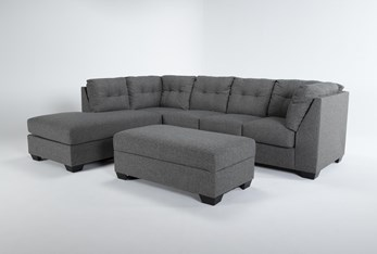Arrowmask 2 Piece Sectional With Sleeper & Left Arm Facing Chaise and Storage Ottoman