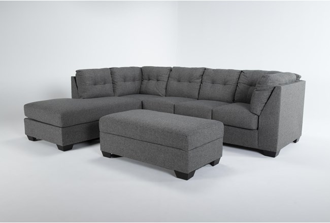 Arrowmask 2 Piece Sectional With Sleeper & Left Arm Facing Chaise and Storage Ottoman - 360