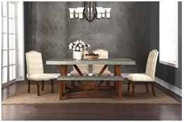 Bo Faux Cement 78 Inch Dining Table