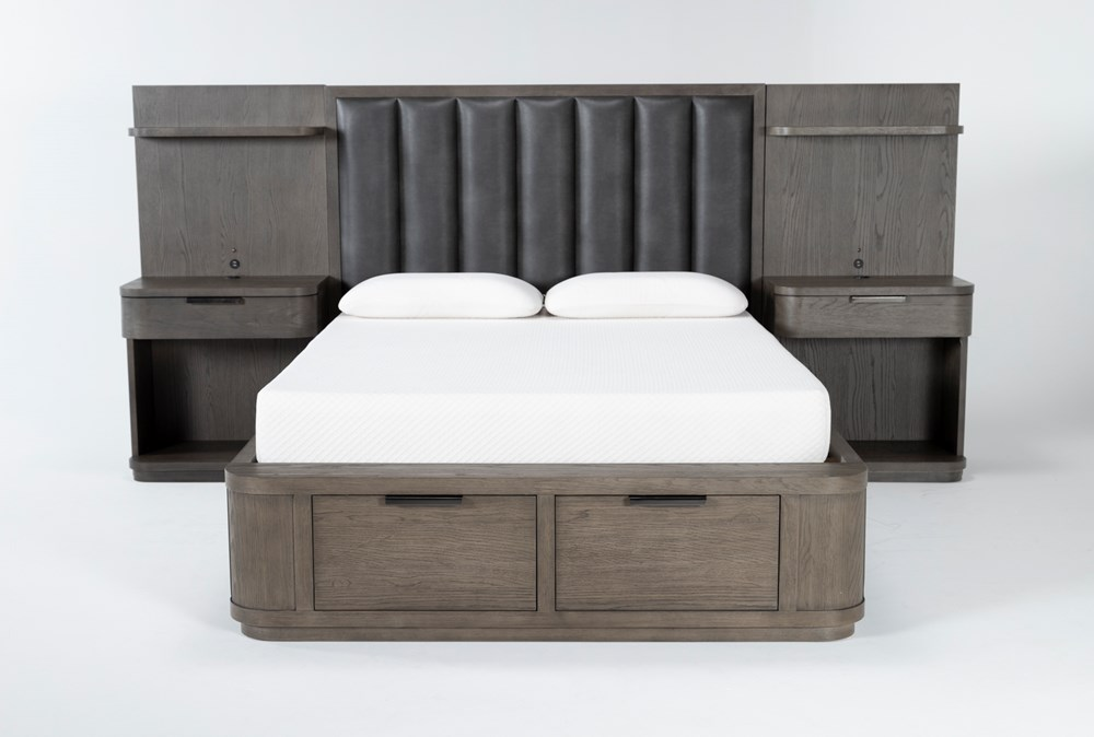 Sean Queen Low Bed With Nightstand Piers