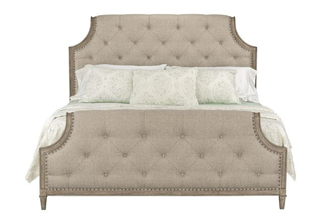 Edith Queen Upholstered Panel Bed - 360