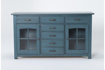 Jamestown Blue 62 Inch Cabinet