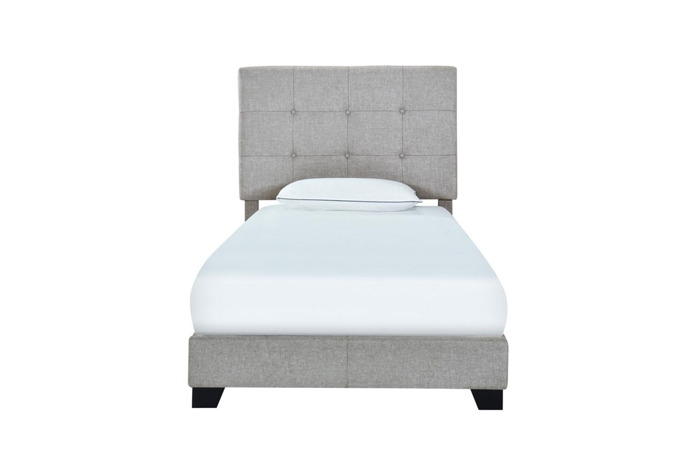 Twin Button Tufted Upholstered Bed-Glacier