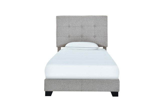 Twin Button Tufted Upholstered Bed-Glacier - 360