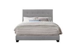Queen Button Tufted Upholstered  Bed-Glacier
