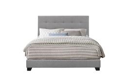 Eastern King Button Tufted Upholstered  Bed-Glacier