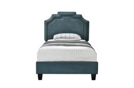 Twin Cleopatra Nail Trim Upholstered Bed-Jasper