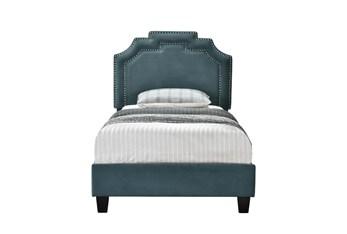 Twin Jasper Cleopatra Nail Trim Upholstered Bed