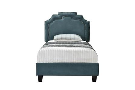Twin Cleopatra Nail Trim Upholstered Bed-Jasper - Main
