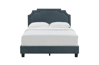 Full Cleopatra Nail Trim Upholstered Bed-Jasper