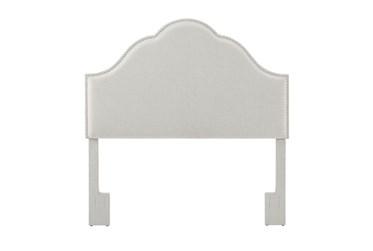 Full/Queen Bell Shaped Upholstered Headboard-White