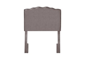 Twin Serpentine Curved Upholstered Headboard-Shimmer