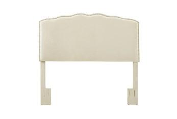 Full/Queen Serpentine Curved Upholstered Headboard-Linen