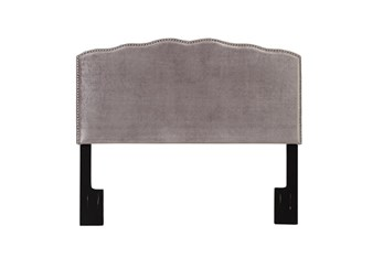 Full/Queen Serpentine Curved Upholstered Headboard-Shimmer