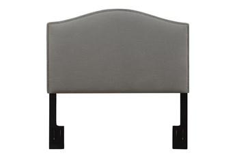 King/Cal King Nail Trim Upholstered Headboard-Ash