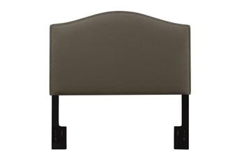 King/Cal King Nail Trim Upholstered Headboard-Taupe
