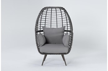 Grenada Grey Outdoor Stationary Egg Chair