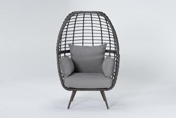 Grenada Grey Outdoor Stationary Egg Chair