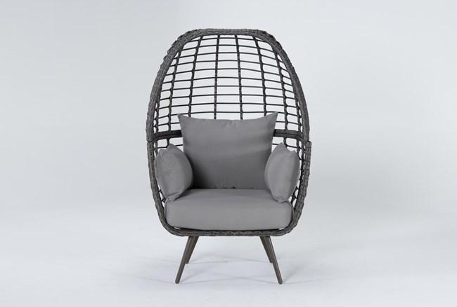 Grenada Grey Outdoor Stationary Egg Chair - 360