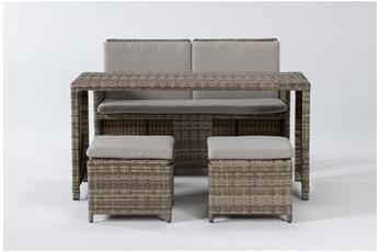 Promo Luca Outdoor 4 Piece Lounge Set
