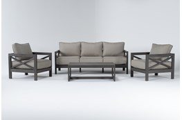 Saint Croix Outdoor 4 Piece Lounge Set