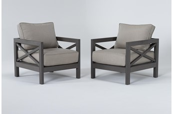 Saint Croix Outdoor 2 Piece Chat Set