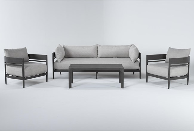 Provence Outdoor 4 Piece Lounge Set With Coffee Table - 360