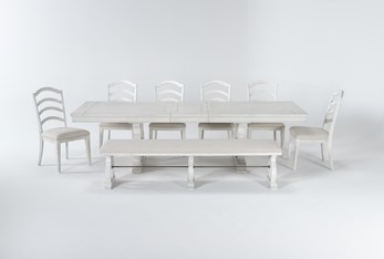 Martin 8 Piece Dining Set With Wood Side Chairs